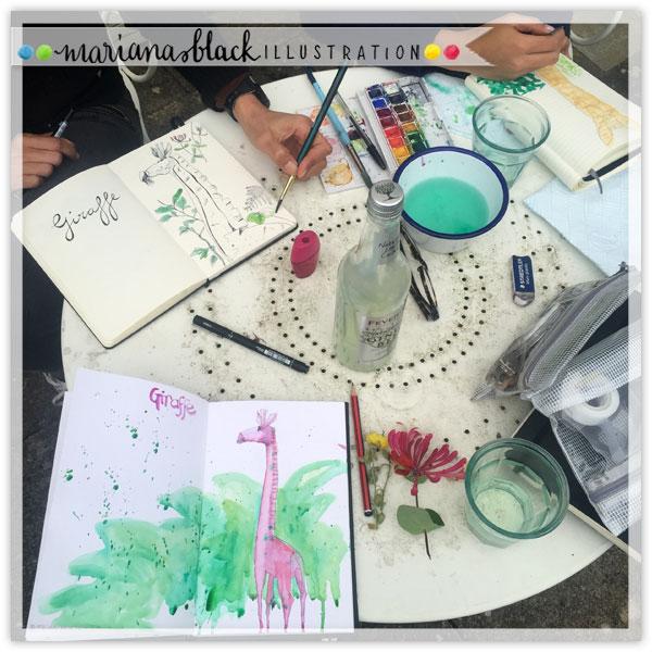 Pink-Giraffe-artists