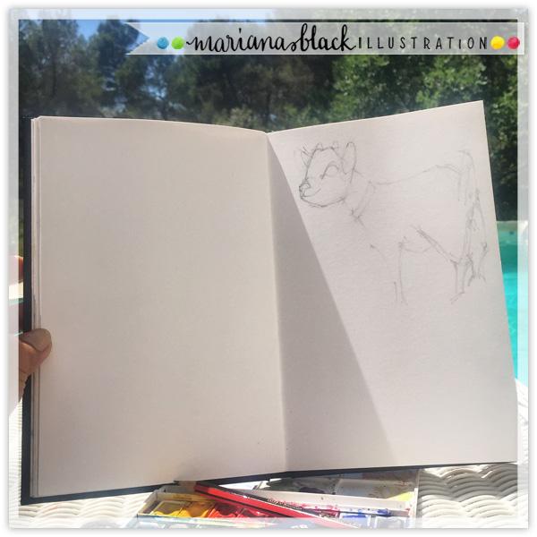 Napoleon-Kid-Goat-Sketch-by-Mariana-Black
