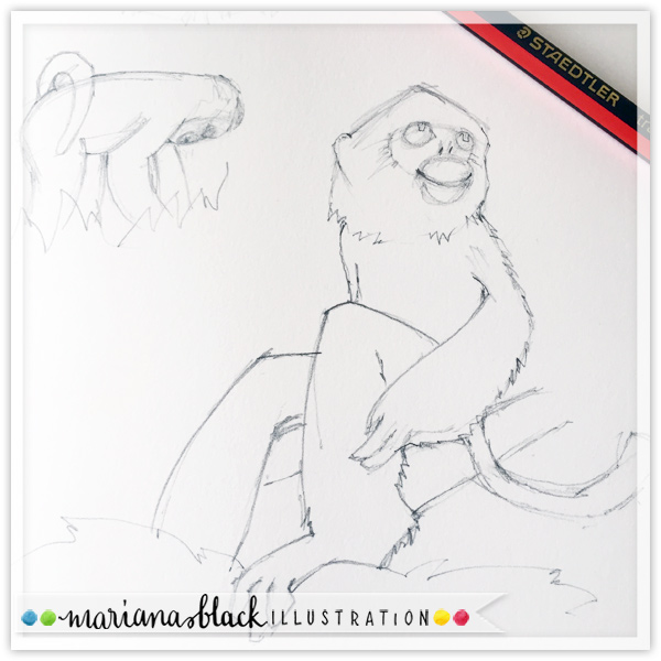 Golden-Monkey-sketch-by-Mariana-Black