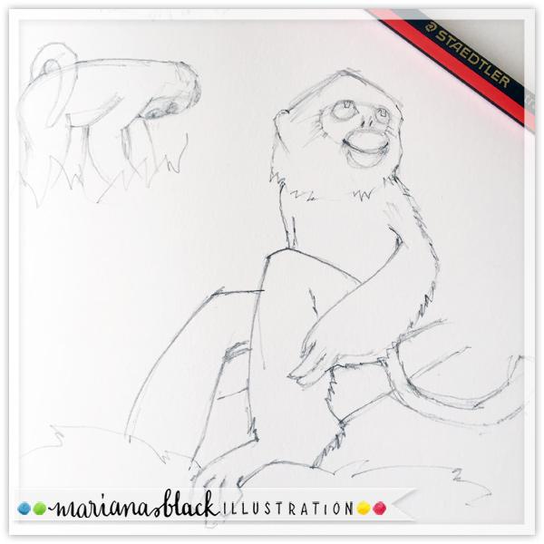 Golden-Monkey-sketch-by-Mariana-Black