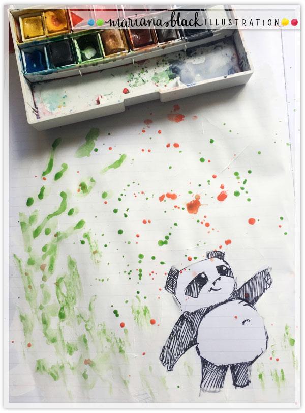 Pandas at Play 1 by Mariana Black