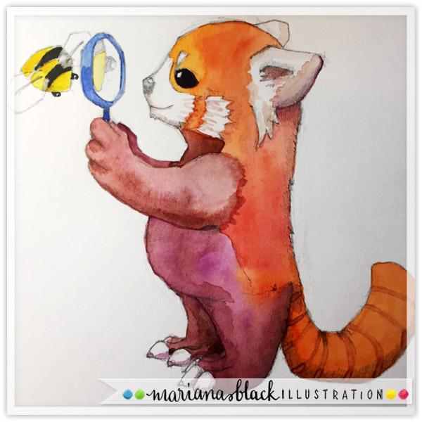 Animal-Sketches-red-panda-by-Mariana-Black