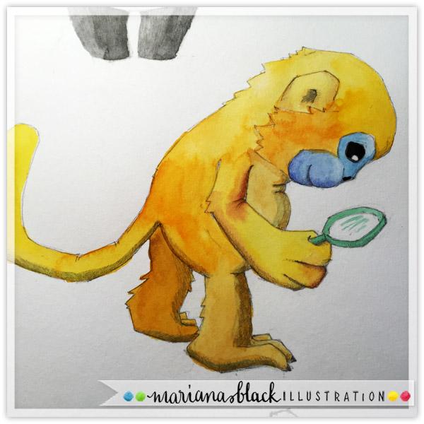 Animal-Sketches-golden-monkey-by-Mariana-Black