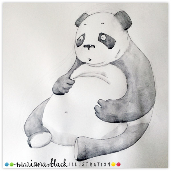 Post-celebration-panda-by-Mariana-Black
