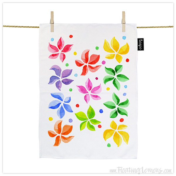 Floral-Leaves-Teatowel-by-Floating-Lemons