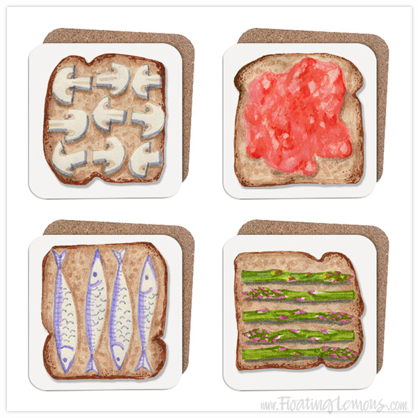 Breakfast-Toast-Coasters2-by-Floating-Lemons-for-Bespo