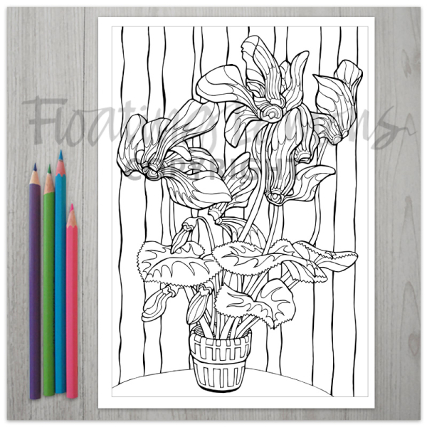 Carefree-Cyclamens-colouring-page-2-by-Floating-Lemons