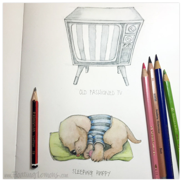 Sketchdaily-5-Puppy-6-TV-by-Mariana