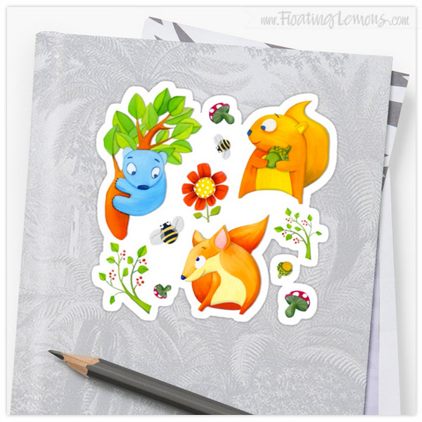 Woodland-Fun-Stickers-by-Floating-Lemons