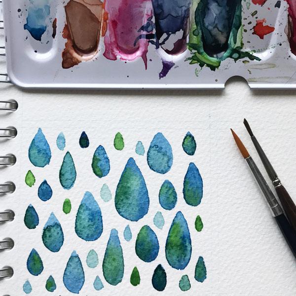 Raindrops-by-MarianaM-floating-lemons