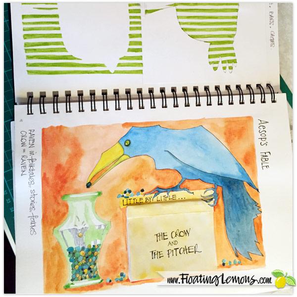 Sketchbook-Crow-Pitcher-by-Floating-Lemons