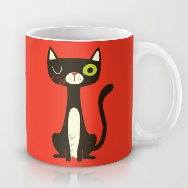 Black Cat Mug by Monster Riot