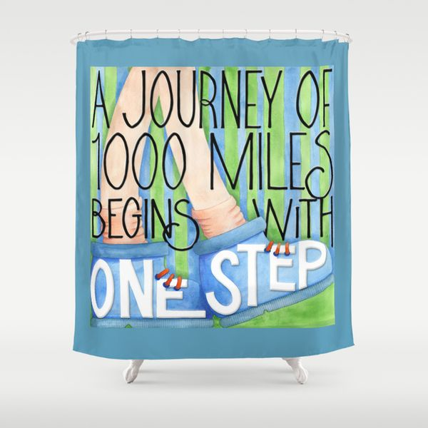 A Journey of 1000 Miles Shower Curtain Society6