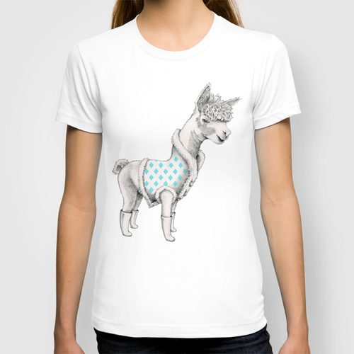 Alpaca in a Coat T-shirt for Society6