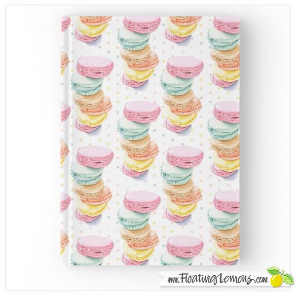Macarons-Hardcover-Journal-by-Floating-Lemons-for-Redbubble