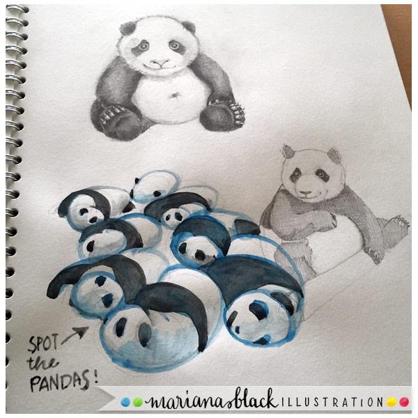 Panda-sketches-by-Mariana-Black-Illustration