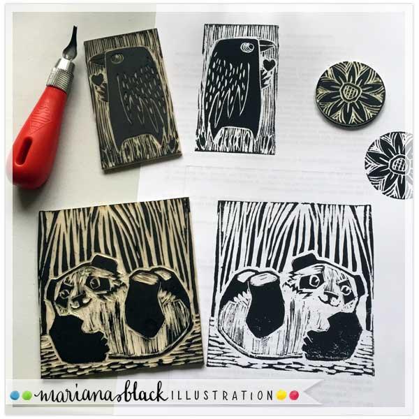 Playful Panda Prints by Mariana Black 1