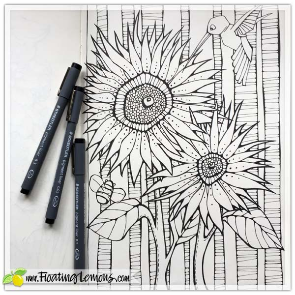 Colouring-Fun-Sunflowers-by-Floating-Lemons