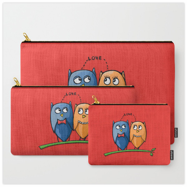 Owl-Love-red-Pouches-by-Floating-Lemons