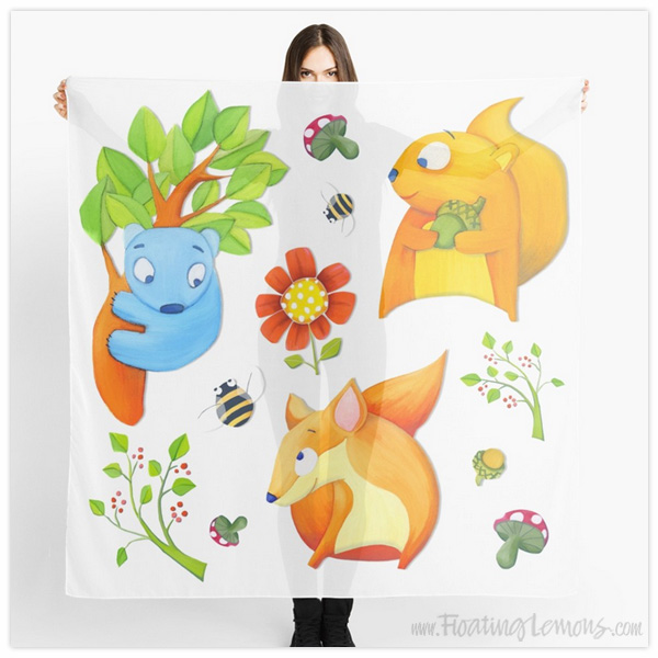 Woodland-Fun-Scarf-by-Floating-Lemons