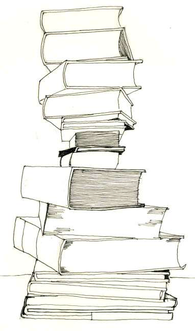 Floating Lemons: Drawing: Bookstack